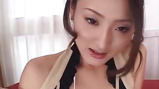 Risa gets creamed after a nasty cock sucking show