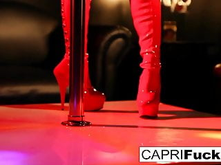 Sexy stripper bikine - Sexy stripper capri fucks a hung customer