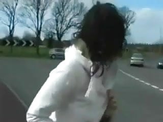 Road rules naked pics - Big tits brit gets nervous walking naked on public road