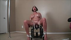 Slave has to work to get fucked by her dildo while gagged