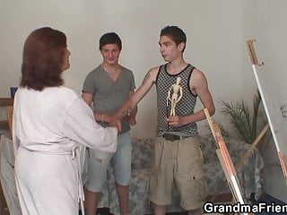 Granma grampa fuck - Granma sucks and rides at same time