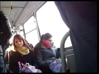 Curious asian Dick flash to curious girl on bus