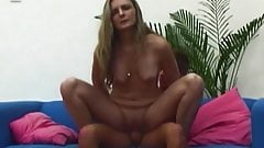 Blonde Mama Fucking With Dildo Caught By Stepson