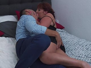 Mommy masturbates for son Hungry mommy gets hard fuck from son