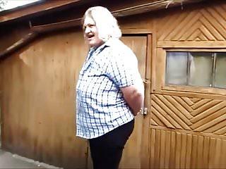 Amateur mature pee T russian woman yard pee