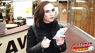 GERMAN SCOUT - FITNESS GIRL SEDUCE FUCK AT STREET CASTING