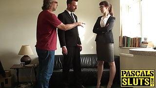 Businesswoman Cassie de la Rage ass domination in bondage