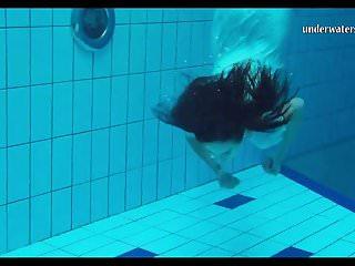 Woman underwater in bikini Piyavka chehova big bouncy juicy tits underwater