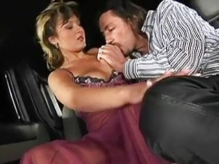Limo fuck prom - Sexy saggy tits brunette fucked in a limo