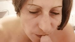 Amateur blowjob and swallow