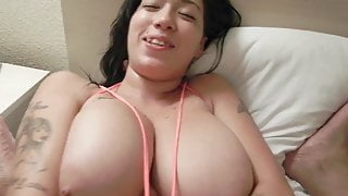 Huge Tits on Asian Fucked in Hotel