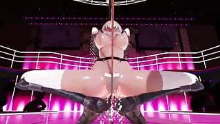 MMD Pole dance Masturbacion