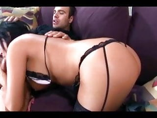 High slut thigh - Busty babe getting fucked in thigh high stockings