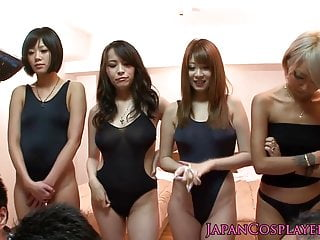 Sex in swimsuits Japanese swimsuit babes in orgy