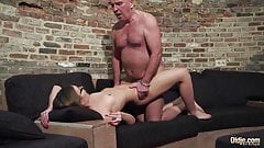Old and Young Porn - Grandpa Fucks Teen Pussy fingers her
