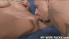 Watch you wife get fucked by a big cocked male pornstar
