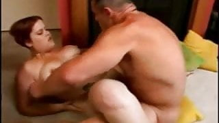 Fat Chubby GF with red hair sucking and riding cock- P2