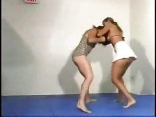 Girls wrestling in bikini 2 girls wrestling