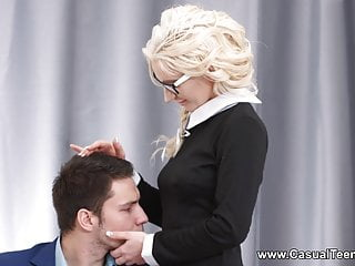Blonde sex blonde Casual teen sex - blonde teeny seduces her boss