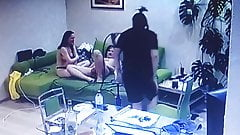 2 girls give guy a blowjob
