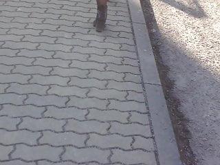 Hot teen in miniskirt Sexy teen walk in miniskirt