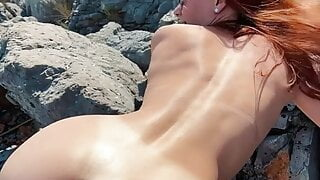 Beach sex and amateur blowjob with cumshot on my ass – KleoModel