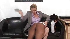 Ebony Teen Dani Spanked By Boss