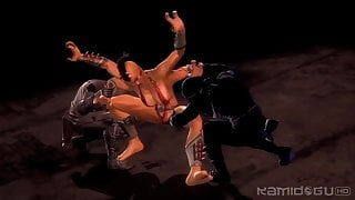 MK9 Sheeva asks Noob Saibot for mercy of wishes (2)