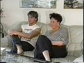 X milf tv Horny couple turn off tv and turn on each other