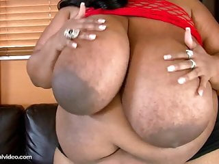 Vintage cotton coupon Black bbw cotton candi fucks her 56m tits