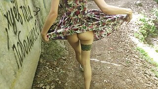 lifted her skirt in public and sucked (PARK)