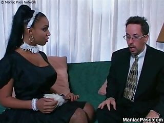 Soleils moon frye boobs - Soleil busty ebony maid banging