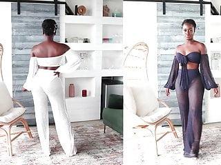 Ebony 12 minute blowjobs Phat ass ebony panty try on 12