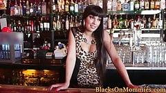 Busty bartender MILF plowed in interracially