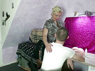 Old dad teaching son to fuck German step mother teach virgin son to fuck and let creampie