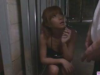 Japanese teens cum Sumire matsu on her knees begging for his cum