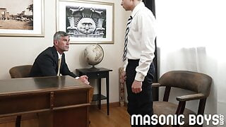 Austin Young fucked hard and deep by daddy Master Oaks