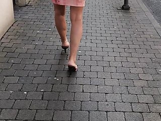 High heel sexy mule slippers video - Sexy mature walking in wooden high heeled mules candid