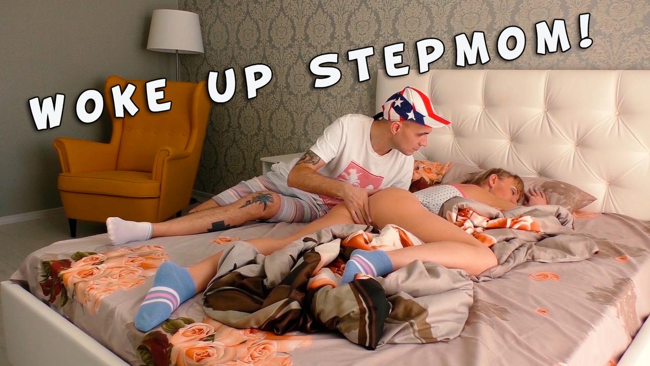 Stepmom Woke Up From The Stepson's Big Dick