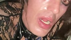 Leatravchienne hard fucked french sissy slut