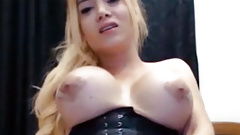 Big melons blonde tgirl cumshot webcam