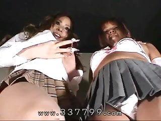 Tube gals bdsm - Japanese femdom gals enjoy slave in hot wax.