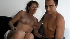Mature with small saggy tits