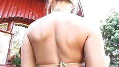 Anette Dawn in gold Bikini