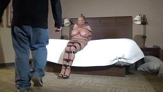 Busty Stephanie Pantyhose Predicament