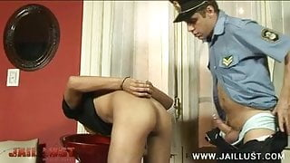 Poor boy gets his ass pierced by a dirty old cop