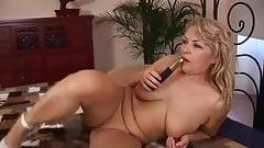 Hot granny Elza strokes her mature pussy