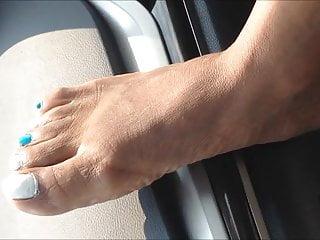 Ebony milf rhonda Rhonda craig blue and white feet
