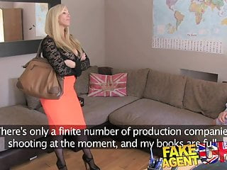 August double penetration Fakeagentuk double penetration for big titted blonde in bdsm