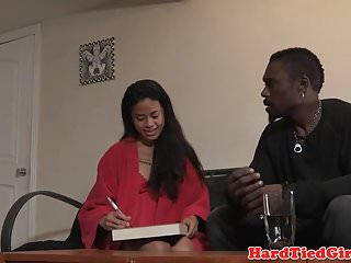 Stereotypes fear black male penis - Asian sub tied up by black male dom in duo